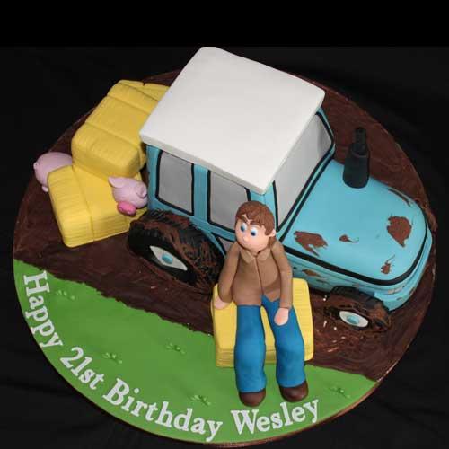 Tractor Cake Decorations Uk : Novelty Cakes